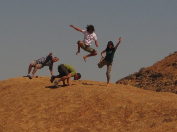 Some desert gymnastics