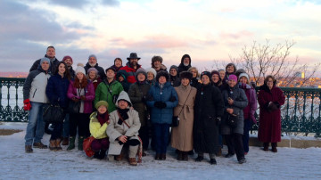 Group photo on the St. Laurent River